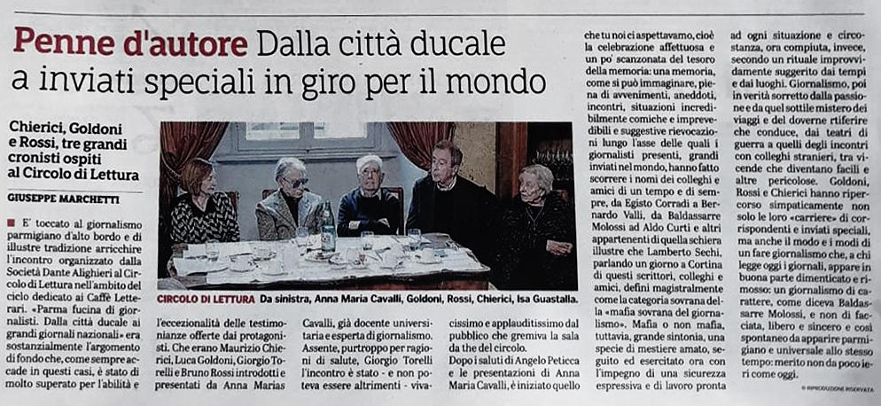 Dalla Gazzetta di Parma dell'11 maggio 2019