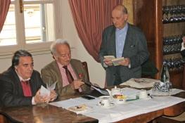 Il Presidente Angelo Peticca, il relatore Gian Luigi Beccaria, Giuseppe Marchetti