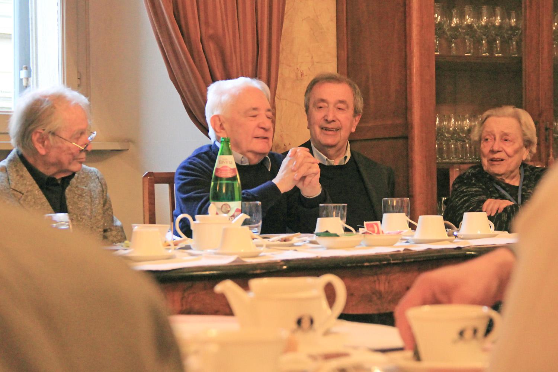 Luca Goldoni, Bruno Rossi, Maurizio Chierici, Isa Guastalla