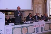 Al tavolo della conferenza Il Prefetto di Parma dott. Giuseppe Forlani