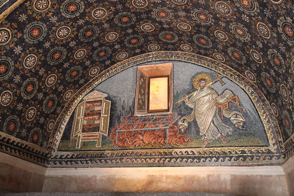 La lunetta col martirio di San Lorenzo