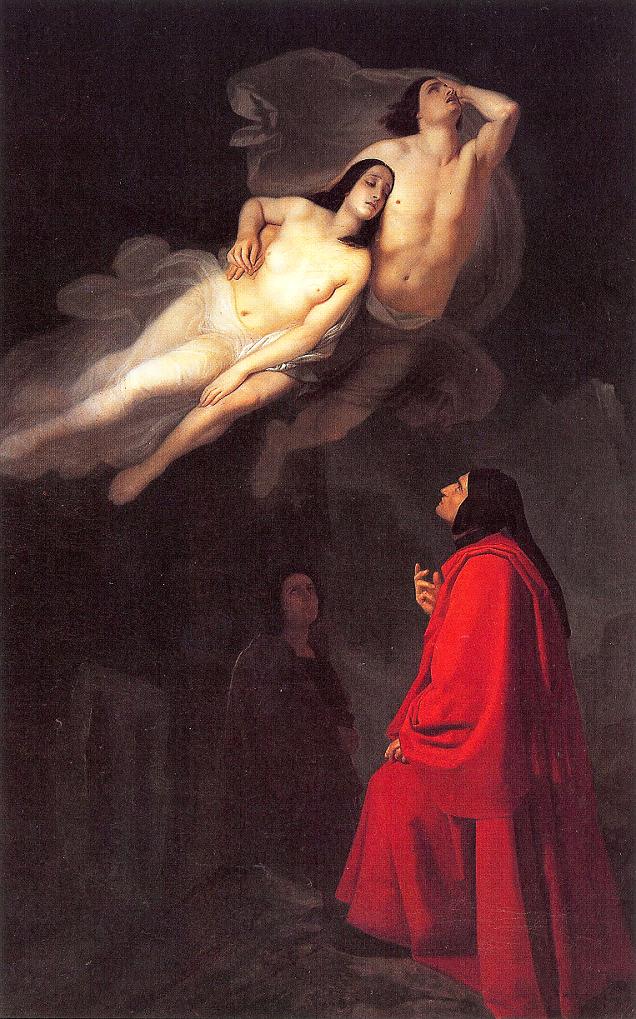 Dante e Virgilio incontrano Paolo e Francesca