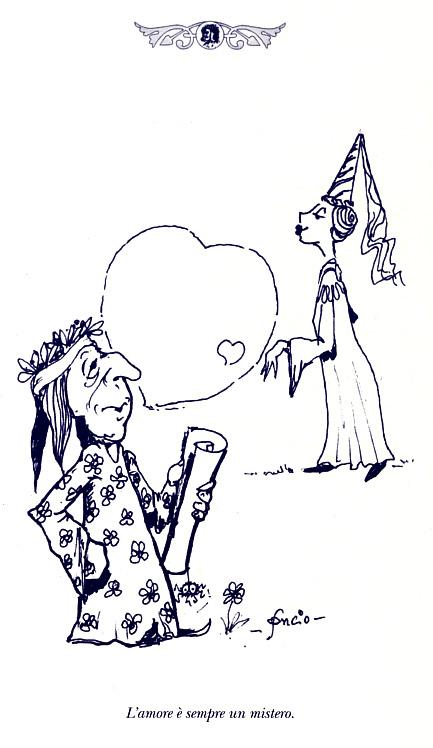 L'amore è sempre un mistero - disegno del prof. Francesco Soncini (Soncio)
