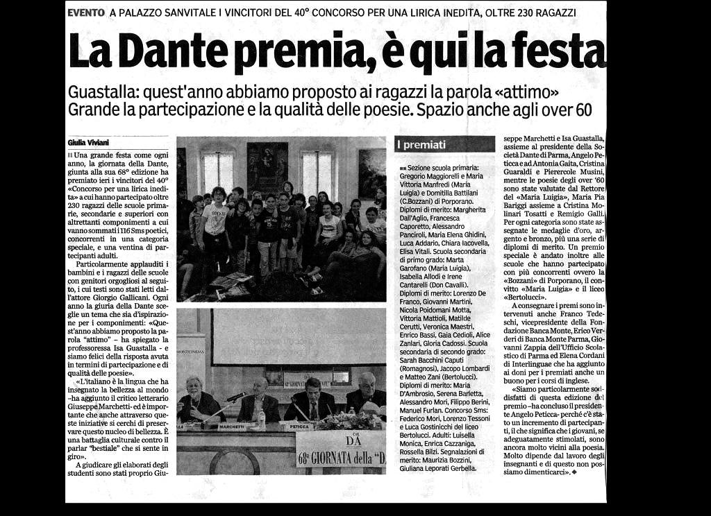 dalla Gazzetta di Parma