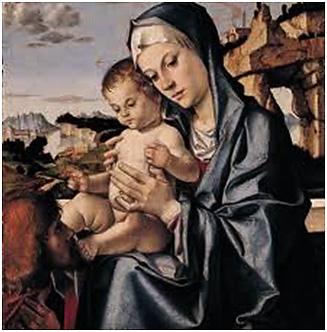Madonna con Bambino e un Santo
