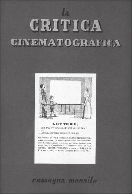 copertina della «Critica cinematografica»