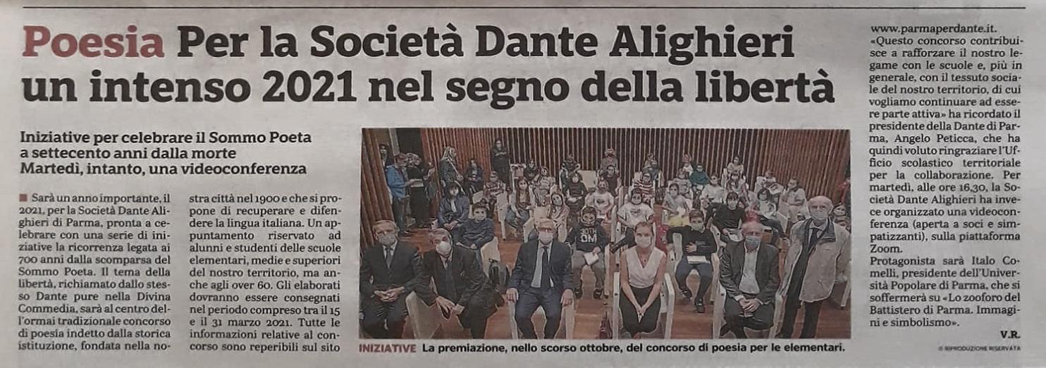 La Gazzetta di Parma del 13 dicembre torna a parlare di noi