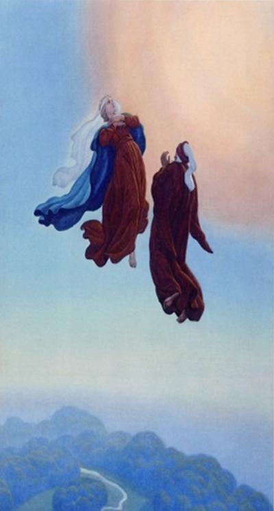 Dante sale verso il Paradiso