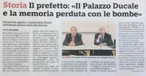 La conferenza del Prefetto Forlani sul Palazzo Ducale di Parma