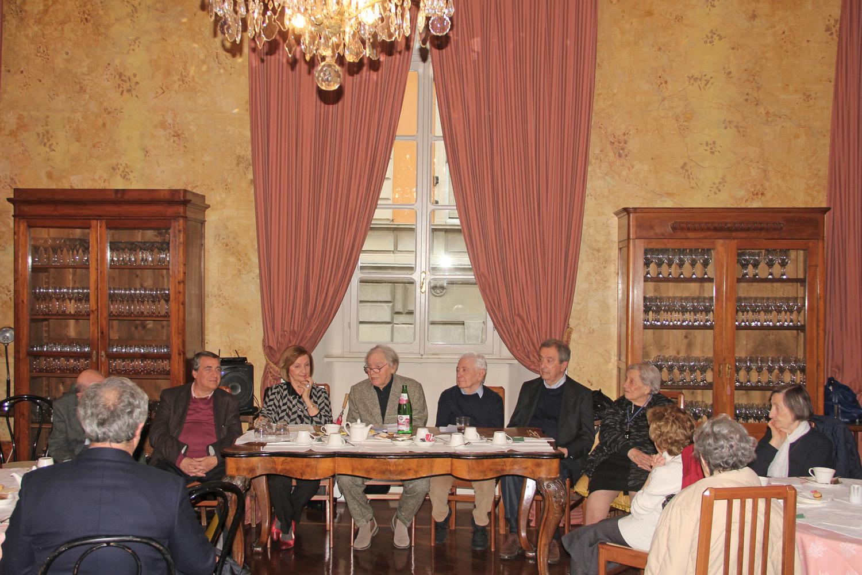Angelo Peticca, Anna Maria Cavalli,  Luca Goldoni, Bruno Rossi, Maurizio Chierici, Isa Guastalla