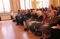 Il pubblico nella Sala delle Feste di Palazzo Sanvitale di Parma