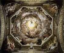 La cupola del Duomo di Parma, affrescata dal Correggio