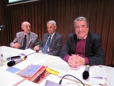 Nella sede della Fondazione MonteParma, il presidente della Dante di Parma Angelo Peticca, il Provveditore agli Studi Maurizio Bocedi e il presidente della giuria Giuseppe Marchetti