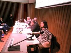 Il tavolo della presidenza con Maria Pia Bariggi, Angelo Peticca, Maurizio Bocedi e Giuseppe Marchetti