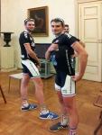 01 - I due atleti Olivier George e Florian Kherbouche, ricevuti in Comune a Parma