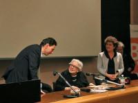 Alessandro Conti, diglio del poeta Giancarlo, e la relatrice prof.ssa Isa Guastalla